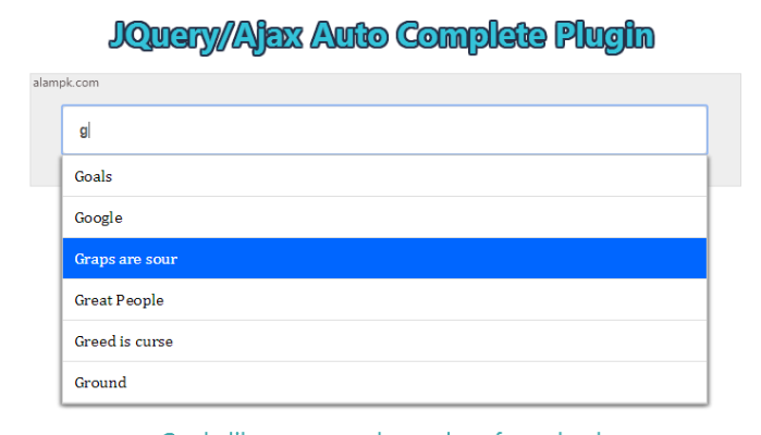 jquery autocomplete plugin