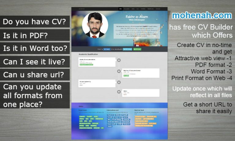 Create Professional Cv Online For Free With Multiple Formats