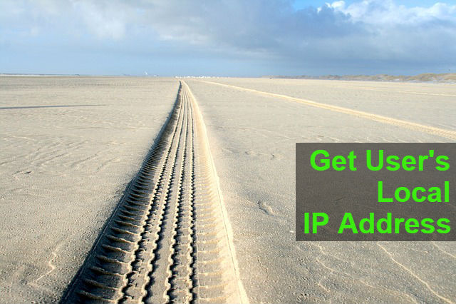 Get Users Local LAN IP address using php, JavaScript, ASP net